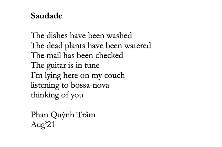 Saudade – Phan QuỳnhTrâm